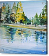 Reflections Of A Stroll Acrylic Print