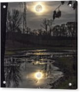 Reflections Of A Super Moon Acrylic Print