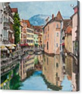 Reflections Of Annecy Acrylic Print