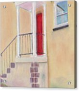 Red Door - Baltimore Acrylic Print