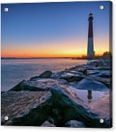 Reflections Of Barnegat Light Acrylic Print