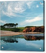 Reflections Of Budleigh Acrylic Print