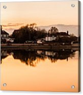 Reflections Of Emsworth Acrylic Print by Trevor Wintle