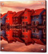 Reflections Of Groningen Acrylic Print