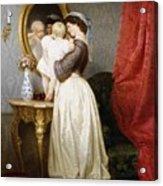 Reflections Of Maternal Love Acrylic Print by Robert Julius Beyschlag