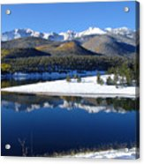 Reflections Of Pikes Peak In Crystal Reservoir Acrylic Print