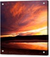 Reflections Of Red Sky Acrylic Print