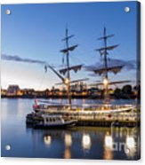Reflections Of Tall Ships Acrylic Print by Andrew Lalchan