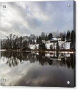 Reflections Of Winter Flood Acrylic Print