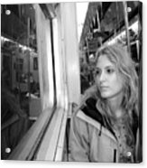 Reflections On A London Train Acrylic Print