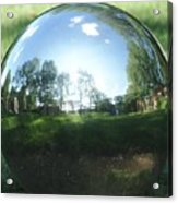 Reflections On A Steel Sphere Acrylic Print