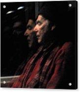 Reflections On A Train Acrylic Print