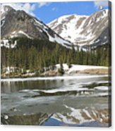 Reflections On Chinns Lake 5 Acrylic Print