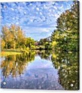 Reflections On Cibolo Creek Acrylic Print