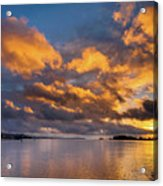 Reflections On Fire Sunset Acrylic Print