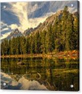 Reflections On Jenny Lake Acrylic Print