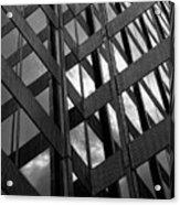 Reflective Glass And Metal Building Acrylic Print