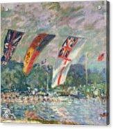 Regatta At Molesey Acrylic Print by Alfred Sisley