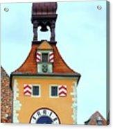 Regensburg Clock Tower Acrylic Print