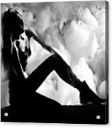 Regreting Mood V2 Bw Acrylic Print