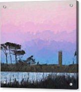 Rehoboth Beach Sunset Acrylic Print