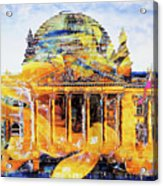 Reichstag And Flower Acrylic Print