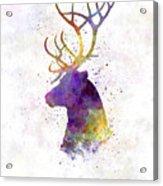 Reindeer 01 In Watercolor Acrylic Print