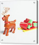 reindeer and Sleigh ii Acrylic Print
