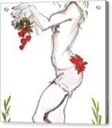 Reindeer Cupid - Holiday Cards Acrylic Print