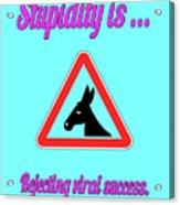 Rejecting Bigstock Donkey 171252860 Acrylic Print