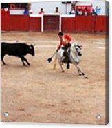 Rejoneador And The Bull, San Miguel De Allende Acrylic Print