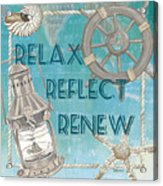 Relax Reflect Renew Acrylic Print