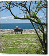 Relaxing By The Shore Acrylic Print