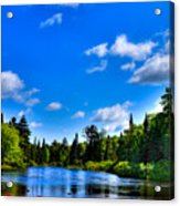 Relaxing On The Moose River Acrylic Print