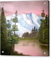Relections In Pink Acrylic Print