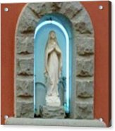 Religious Icon Mary Acrylic Print