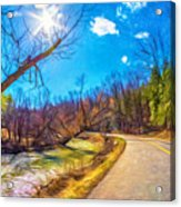 Reluctant Ontario Spring 3 - Paint Acrylic Print