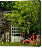 Remains Of An Old Tow Truck And Garage Acrylic Print