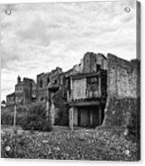 remains of st pauls school derelict building site future campus for university college Birmingham UK Acrylic Print