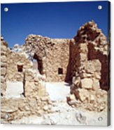 Remains Of The Massada Synagogue Acrylic Print