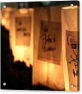 Rememberance Of Life - Luminaries At Relay Acrylic Print