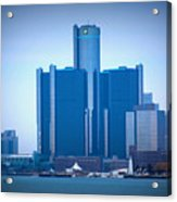Gm Renaissance Center In Downtown Detroit, Michigan Acrylic Print
