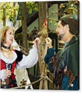 Renaissance Faire With Hen Acrylic Print