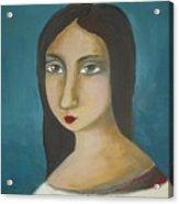 Renaissance Girl Acrylic Print