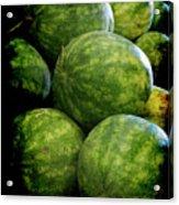 Renaissance Green Watermelon Acrylic Print