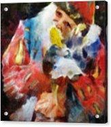 Renaissance Man With Corn On The Cob Acrylic Print