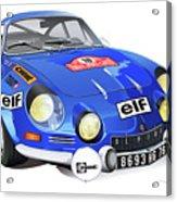 Alpine Renault A110 Acrylic Print