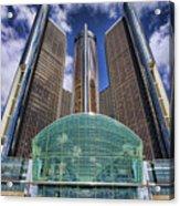 Rencen Detroit Gm Renaissance Center Acrylic Print