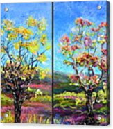 Renew And Refresh Diptych Orientation 2 Acrylic Print
