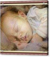 Renoircalia Catus 1 No. 2 - Adorable Baby L B With Decorative Ornate Printed Frame. Acrylic Print